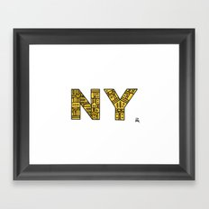 SNOW NY - PM Framed Art Print