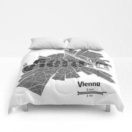 Vienna Map Comforters