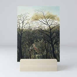 Rendezvous in the Forest (1889) by Henri Rousseau. Mini Art Print