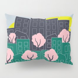 Spring Blooms in the City Pillow Sham