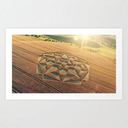 Crop Circle 2016 - Cherhill, Calstone, Wiltshire Art Print