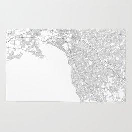 Melbourne, Australia Minimalist Map Rug