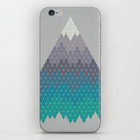 geology iPhone & iPod Skins featuring Many Mountains by Rick Crane