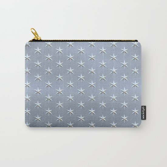 elegant silver star pattern Carry-All Pouch
