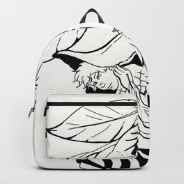 Fairy under angel trumpet - Lineart Backpack