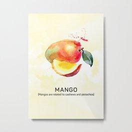 Fun with Fruits - Mango Metal Print