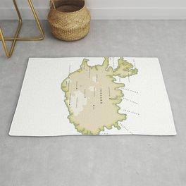 Vintage map of Iceland Rug