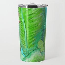 Banana Floral Travel Mug