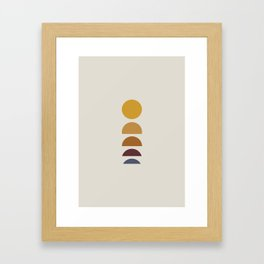 Minimal Sunrise / Sunset Framed Art Print