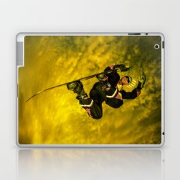 Snowboarding #1 getting air Laptop & iPad Skin