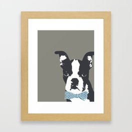 Boston Terrier with a Bow Tie Art Print Framed Art Print
