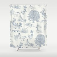 gandalf Shower Curtains featuring Shire Toile by Jackie Sullivan