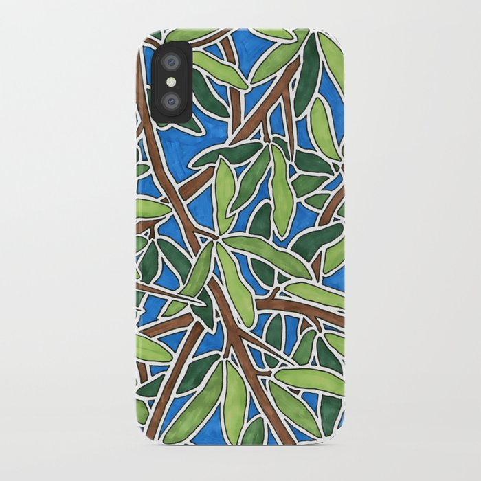 Leaves and Branches in Weaving Tangle iPhone Case
