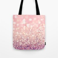 blush Tote Bags featuring Blush by Lisa Argyropoulos