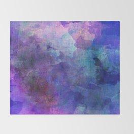 blue opal gemstone Throw Blanket