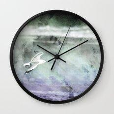 Stormy Flight Wall Clock