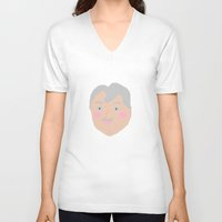 martell V-neck T-shirts featuring Pete Martell by kalyndimartin