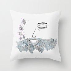 Geometric beard Throw Pillow