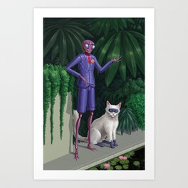Zambu & Melmoth Art Print
