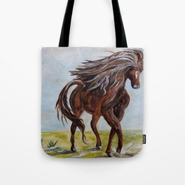 Splashing the Light - Young Horse Tote Bag