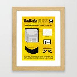 Bad Data: Assembly Instructions (Yellow) Framed Art Print
