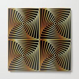 Rotating squares Metal Print
