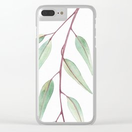 Eucalyptus Leaves Two Clear iPhone Case