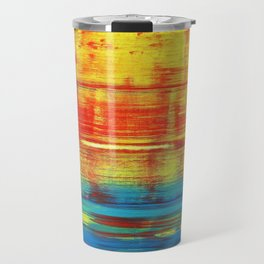 Sunny Sunset, Colorful Abstract Art Travel Mug