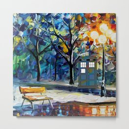 tardis lounge chair Metal Print