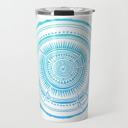 Quaking Aspen – Blue Ombré Tree Rings Travel Mug