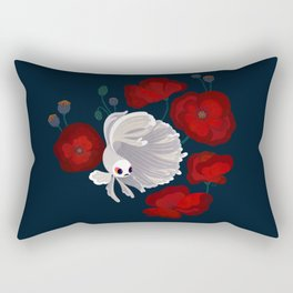 Bettas and Poppies Rectangular Pillow