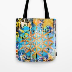 Sacred-Décollage Tote Bag
