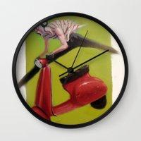 moto Wall Clocks featuring MOTO by XA-BCN