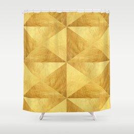 Golden polygon VII Shower Curtain