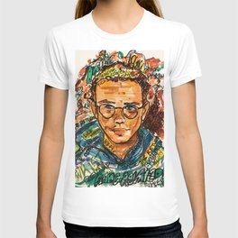 rapper,colourful,colorful,poster,wall art,fan art,music,hiphop,rap,logicc,lyric T-shirt