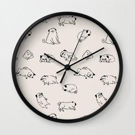 More Sleep Pug Wall Clock