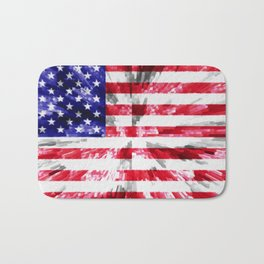 American Flag Extrude Bath Mat