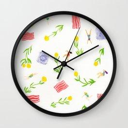 Orange Bloom Wall Clock