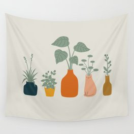 Cat and Plant 9 Wall Tapestry