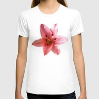 lily T-shirts featuring lily by flora cyclam