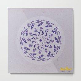 Third-Eye Chakra Mandala Metal Print