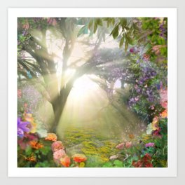 Fairyland Sunset Garden Art Print
