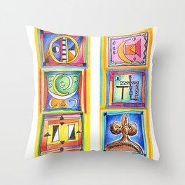 sunday colors Throw Pillow