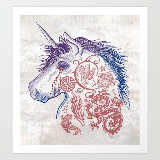 War Unicorn Art Print