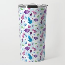 Boho Crystal Love - Illustrated Crystal Repeat Pattern Travel Mug