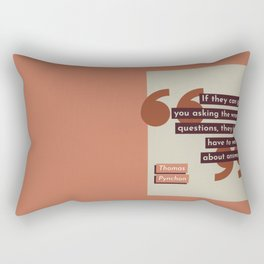 Asking the Wrong Questions Rectangular Pillow