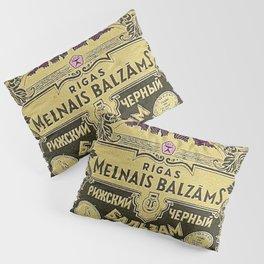 Vintage 1950 Rigas Melnais Balzams Wine Bottle Pink-Fushia Label Pillow Sham