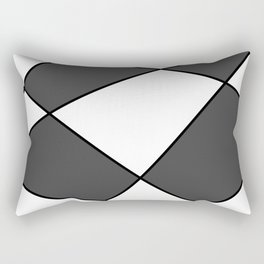 Geometric abstract - gray, black and white. Rectangular Pillow