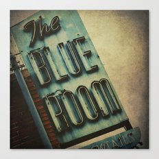 Blue Room Neon Sign Canvas Print