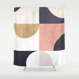 Geometric Moontime 1 Shower Curtain